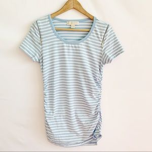 Michael Kors Striped Top T-Shirt Blue Size M.